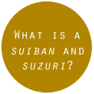 What is a suiban and suzuri